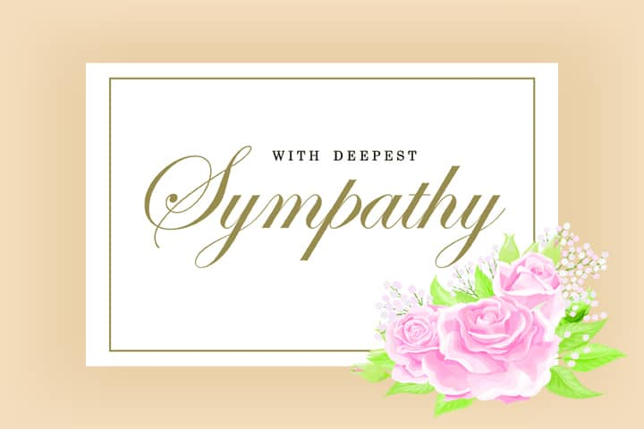funeral flower card messages → 200 examples